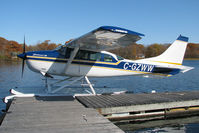 C-GZWW @ CNV6 - This nice Stationair was resting at its home dock at the Lake St. John Seaplane base just north of Orillia. - by Chris Coates
