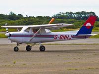 G-BNHJ @ EGFH - Visiting Cessna 152 on a fly in from Denham Aerodrome Uxbridge. - by Derek Flewin