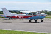 G-WACY @ EGFH - Visiting Reims Cessna Skyhawk. - by Roger Winser