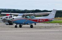 G-WACY @ EGFH - Visiting Reims/Cessna Skyhawk. Previously registered F-GDOZ. - by Roger Winser