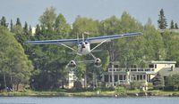 N9211T @ PALH - Landing at Lake Hood