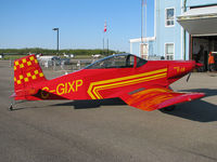 C-GIXP @ CNQ3 - This cool homebuilt just arrived from Parry Sound Airport up north. Its friendly pilot soon put it away for the night in its hangar. This airplane lives here at Welland's Niagara Central Airport & must be so much fun to fly. - by Chris Coates