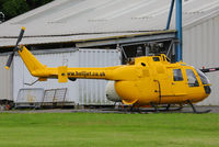 80 39 @ X4CP - ex German Army (Heer) Bo.105M at Leeds Coney Park heliport - by Chris Hall