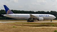 N774UA @ EDDF - departure via RW18W