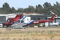 N807JS @ KMYF - Fire Dept Copter Two At Montgomery Field, San Diego, California