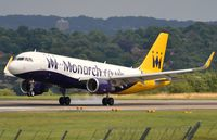 G-ZBAB @ EGNM - Monarch A320 with sharklets landing. - by FerryPNL
