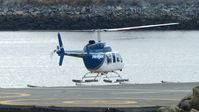 C-GXHJ @ CBC7 - Lifting off at the Vancouver Harbour Heliport. - by M.L. Jacobs
