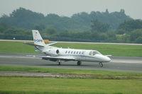 D-CAPB @ EGCC - D-CAPB Cessna 560 Citation Encore taxiing at Manchester Airport. - by David Burrell