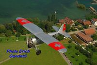 HB-RAG @ LSZV - Dewoitine HB-RAG  1930 with Hispano Suiza radial - by Erich Gandet