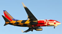 N214WN @ KLAX - Southwest Airlines, is aproaching Los Angeles Int´l(KLAX), in the soft evening light - by A. Gendorf