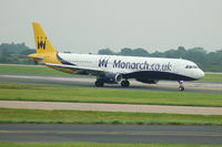 G-ZBAE @ EGCC - Monarch Airbus A321-231 taxiing at Manchester Airport. - by David Burrell