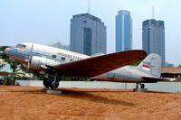 AF-4775 - Douglas DC3C-47B-45-DK [16968/34228] Jakarta-Selantan~PK 25/10/2006. RI-001 was cancelled and the other marked RI-001 is T-462 displayed at Jakarta-Kampung Rambutan~PK. - by Ray Barber