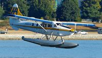 C-FODH @ CYHC - Harbour Air #307 about to land in Coal Harbour. - by M.L. Jacobs