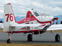 C-GSYF @ CYXX - Conair #76 located at Conair Aviation is a single-engine firefighting air tanker. - by M.L. Jacobs