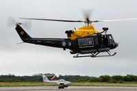 ZJ240 @ EGFH - Visiting SARTU Griffin helicopter coded U. - by Roger Winser