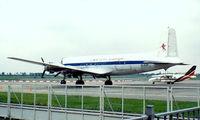 EL-AJP @ EHRD - Douglas DC-4 Conversion [27289] (LWA Air Cargo) Rotterdam~PH 04/05/1988