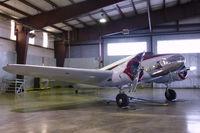 N33650 @ MAF - In the CAF hangar at Midland International