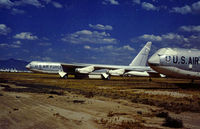 57-0168 @ DMA - Air Force Systems Command B-52F Stratofortress in storage in May 1973 at what was then known as the Military Aircraft Storage & Disposition Centre (MASDC). - by Peter Nicholson
