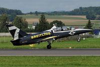 ES-YLP @ LOWL - Breitling Jet Team Aero L-39 Albatros landing in LOWL/LNZ - by Janos Palvoelgyi