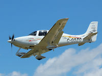 C-GOZO @ YKZ - Attractive looking Cirrus SR22 landing on rwy 33 at Buttonville Municipal Airport - by Ron Coates