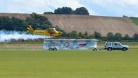 G-BPCF @ EGSU - 5. G-BPCF - two wheels down,  at The Duxford Air Show, Sept. 2013. - by Eric.Fishwick