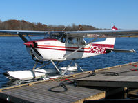 C-GUJR @ CNV6 - After a fun day of flying around over cottage country the two pilots in this Skyhawk stopped here for fuel. This is at Lake St. John Seaplane base that's just north of Orillia, Ontario. - by Chris Coates