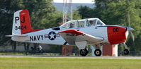 N100ZP @ KAXN - Beech D-45 Mentor taking off of runway 31. - by Kreg Anderson