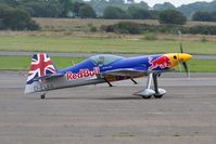 D-EVXA @ EGFH - Visiting XA-41 of the Matadors formation aerobatic team flown by wingman Steve Jones. - by Roger Winser