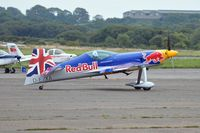 D-EYXA @ EGFH - Visiting XA-41 of the Matadors formation aerobatic team flown by leader Paul Bonhomme. - by Roger Winser