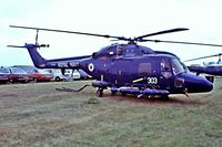 ZD252 @ EGVI - Westland Lynx HAS.3 [255] (Royal Navy) RAF Greenham Common~G 23/07/1983. Taken from a slide.