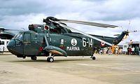 MM5016N @ EGDY - Agusta SH-3H Sea King [6013] (Italian Navy) RNAS Yeovilton~G 15/07/1995 - by Ray Barber