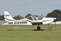 G-EVSW @ EGBK - Arriving at the 2013 Light Aircraft Association Rally at Sywell in the UK - by Terry Fletcher