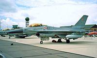 E-188 @ EGDY - General Dynamics F-16A Fighting Falcon [6F-15] (Royal Danish Air Force) RNAS Yeovilton~G 15/07/1995 - by Ray Barber