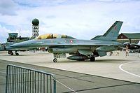 ET-022 @ EGDY - General Dynamics F-16B Fighting Falcon [6G-16] (Royal Danish Air Force) RNAS Yeovilton~G 15/07/1995