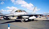 ET-199 @ EGVA - General Dynamics F-16B Fighting Falcon [6G-15] (Royal Danish Air Force) RAF Fairford~G 22/07/1995