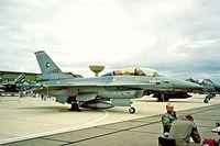 J-655 @ EGDY - General Dynamics F-16B Fighting Falcon [6E-20] (Royal Netherlands Air Force) RNAS Yeovilton~G 15/07/1995