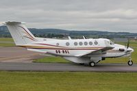 OO-ASL @ EGTE - Taxiing for departure from R26 at Exeter - by Andy Stevens