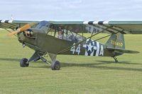 G-BHPK @ EGBK - 1943 Piper J3C-65, c/n: 12161