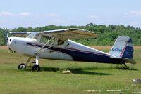 CF-OHB @ CPU6 - Cessna 140 [11571] Tyendinaga-Mohawk~C 20/06/2005. Marked C-FOHB. - by Ray Barber