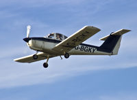 G-BGKY @ EGFH - Resident Tomahawk operated by Cambrian Flying Club, students first solo flight. - by Derek Flewin