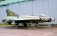 35959 @ ESCF - SAAB S-35E Draken [35959] Linkoping-Malmen~SE 31/05/2002 - by Ray Barber