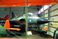 DK-259 @ EFKY - SAAB J-35FS Draken [35499] Kymi~OH 17/05/2002. Not the best of shots as difficult to photograph in this crowded small museum. - by Ray Barber