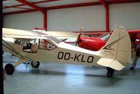 OO-KLO @ EBNM - Boisavia B.601L Mercurey [22] Namur~OO 15/08/2002. Tucked away in the back of a crowded hangar. Taken through a doorway.