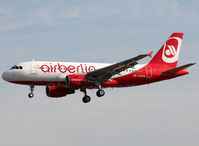 OE-LOD @ LEBL - Landing rwy 25R in Air Berlin c/s with small FlyNiki titles near door - by Shunn311