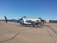 N545AM @ KIWA - Air Methods helicopters stopping for crew breakfast and some JetA at KIWA.