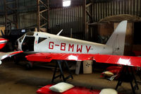 G-BMWV @ EGBG - in the main hangar at Leicester - by Chris Hall