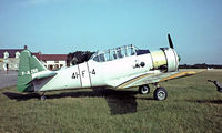 F-AZBE @ LFFQ - North American AT-6C Harvard IIa [88-12127] La Ferte Alais~F 17/07/1982. Taken from a slide.