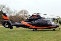 G-OLNT @ EGBC - Aerospatiale SA.365N1 Dauphin [6309] (Multiflight) Cheltenham Racecourse~G 16/03/2012