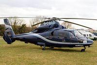 G-CGGD @ EGBC - Aerospatiale SA.365N2 Dauphin [6435] (Multiflight) Cheltenham Racecourse~G 12/03/2013. Now with Multiflight titles on the nose.