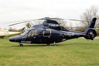 G-HBJT @ EGBC - Eurocopter EC.155B1 Dauphin [6807] (Starspeed) Cheltenham Racecourse~G 16/03/2012. Now with silver surround on rear fuselage window.